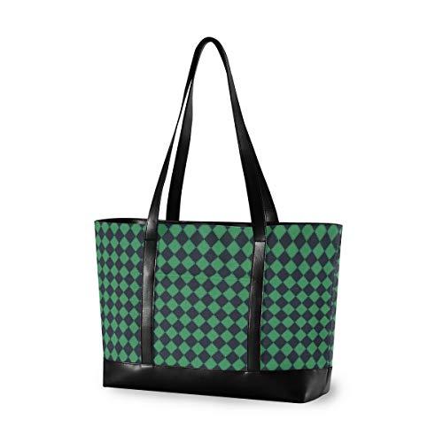 Vertical Grain Lattice 14 15 15.4 15.6 inch Laptop Tote Bag for Women Large Lightweight and waterproof Computer Handbags Laptop Shoulder Messenger Bag