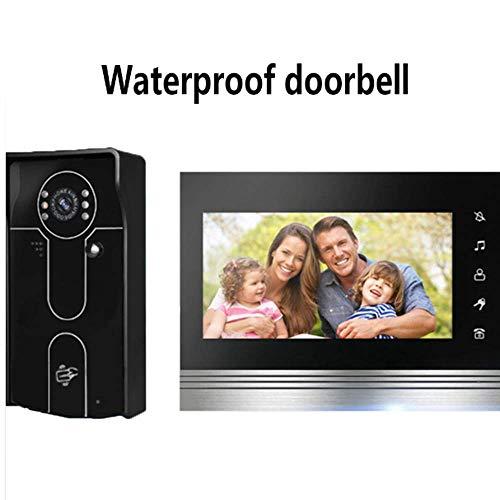 Waterdicht deurbel HD Color Video Intercom HD Night Vision LED Afbeelding Een Unlock functie One-touch Call intercom in twee richtingen ID Card Functie HAOSHUAI