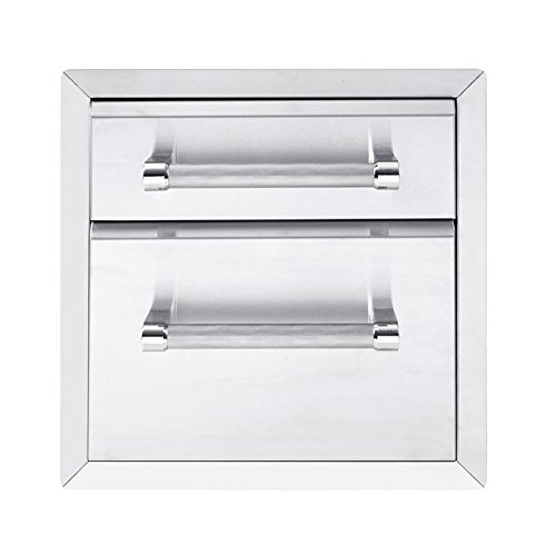 """KitchenAid 780-0017 Built-in Grill Cabinet Drawer Storage, 18"""", Stainless"""