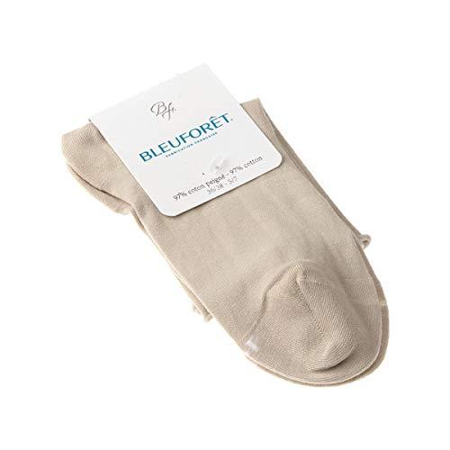 Bleuforêt Calcetín Bajo - 1 par - Sin elasticos - Sin tejido de rizo - Fine - Beige - Velouté - 39/41