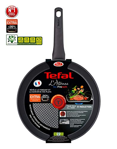 Tefal Artisane G1070402 - Sarten de 24cm Compatible con Todo Tipo cocinas; a Gas, Placa eléctrica, vitrocerámica e inducción, óptima retención del Calor y un diseño sólido y Duradero