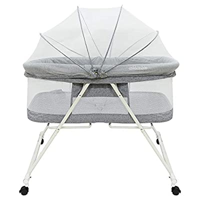 Portable Baby Bassinet - Foldable Crib for Newborns, Travel Bassinet with Removable Tent