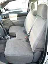 Durafit Seat Covers, Made to fit 2009-2014 Tacoma Bench Seat, with Side airbags in Seats. Adjustable 3 headrests Gray Endu...
