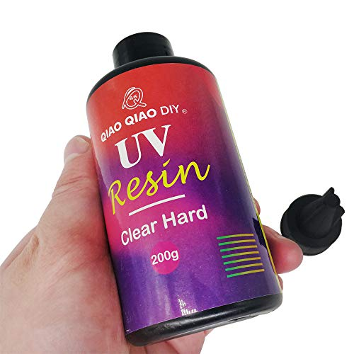 Epoxy UV Resin Clear Hard,ONGHSD UV Resin Hard Type Sunlight Ultraviolet Curing Resin UV Epoxy Resin Crystal Clear Transparent Glue for DIY/Kids Crafts Jewelry Making Casting & Coating (200g/7.05oz) ONGHSD