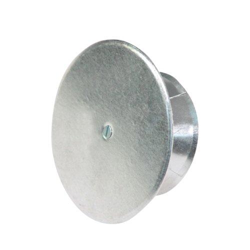 Kamino Flam Kaminlochdeckel aus verzinktem Stahl, feueraluminiert (FAL), Kaminverschluss mit Isolierungsplatte, Ofenkappe mit Spreiztrichter zur vielseitigen Benutzung, Ofenlochdeckel für Rohre bis Ø100 - 150 mm, Schutzkappe ca. Ø 160 mm