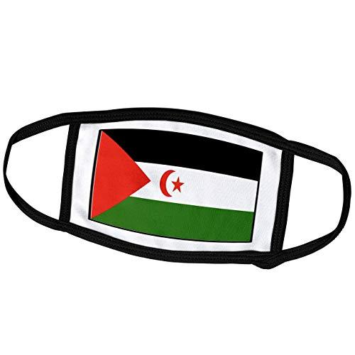 Promini Monatsmaske – Florene Weltflagge Knöpfe – Foto der Westsahara Flagge Knopf – Staubmaske Outdoor-Schutzmaske