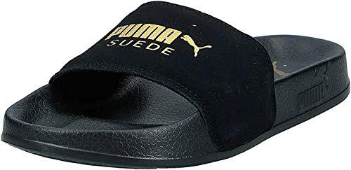 Puma Leadcat Suede, Zapatos de Playa y Piscina Unisex Adulto, Black Team Gold, 44.5 EU