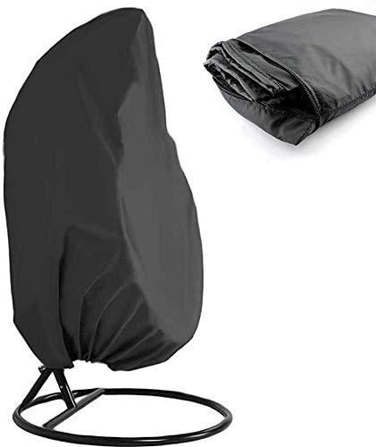 AUPERTO Funda protectora para sillón colgante 190 x 115 cm – Cubierta para sillón colgante / sillón colgante con cordón Oxford resistente al agua para muebles de jardín exterior