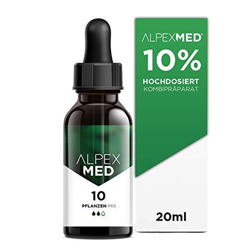 ALPEX-MED® 10 Prozent 20ml hochdosiertes Kombipräparat mit konzentrierte Flavonoide, Terpene, Vitamin E & ungesättigte Omega Fettsäuren | 500 Tropfen