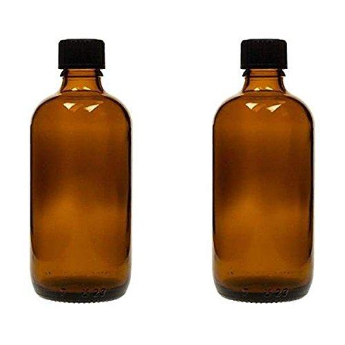2 x Tropfflaschen 100 ml, Medizinflaschen Braunglas made in germany, BPA-frei, inkl. Beschriftungsetiketten