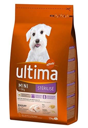 Ultima Ultima mini-kroketten hunde 1-10 kg sterilisiertes chicken rice 1,5 kg format (3er-set)