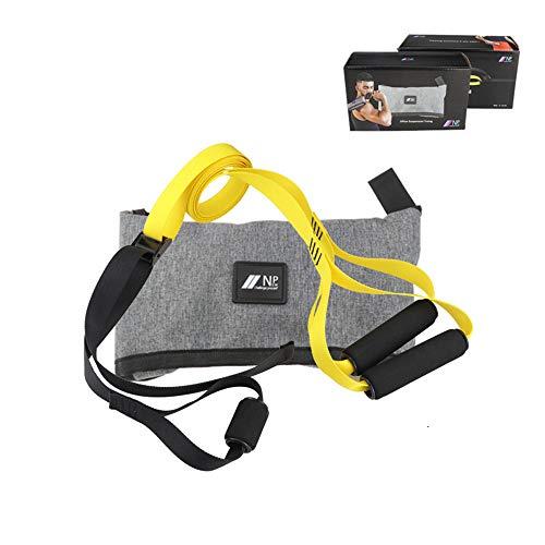 Sospensione Peso corporeo di Resistenza Cinghie Kit, allenamenti in Palestra Professionali per Indoor, Viaggi, e Costruire Esterna Muscolare magra, Forza,Giallo
