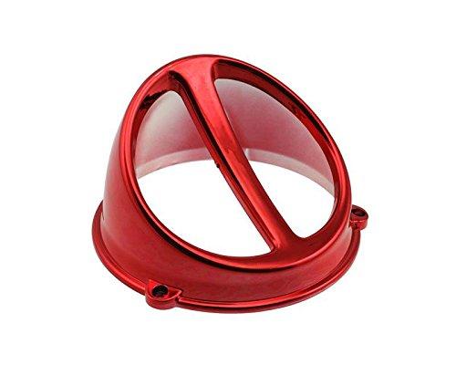 Déflecteur de Ventilateur Air Scoop Chromé Rouge – Universel