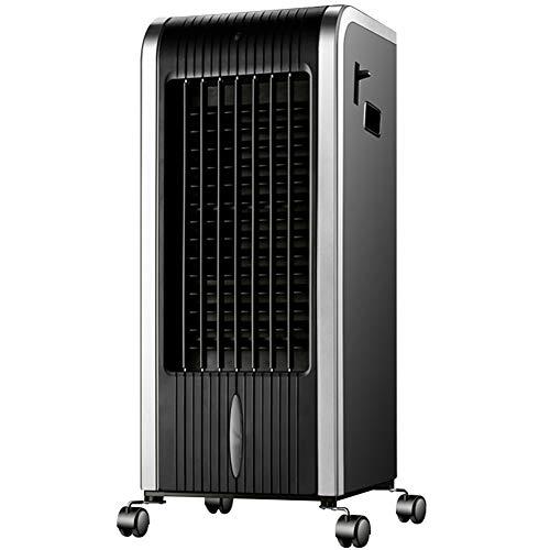 GKM Enfriadores de Aire Acondicionado silencioso 15 Metros Distancia de Control Remoto 80w 8 Horas de Tiempo Negro Unidad de Aire Acondicionado para el Dormitorio Sala de Estar