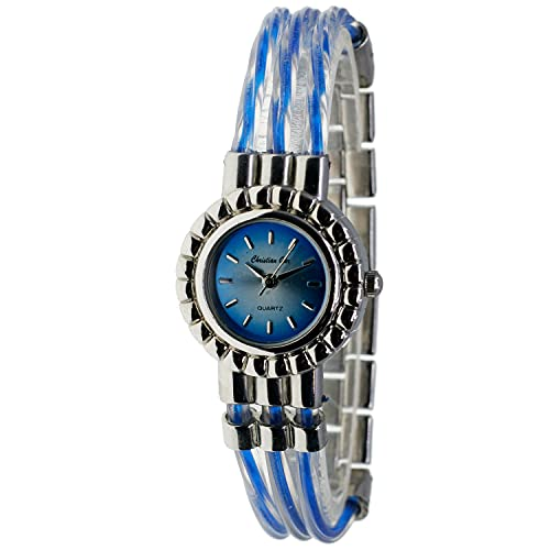 Christian Gar Cg-88543-2 Reloj Analógico para Mujer Caja De Metal Esfera Color Azul