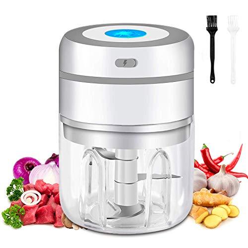 Elektrischer Mini-Knoblauchzerkleinerer und Küchenmaschine, elektrischer Zerkleinerer und Zerkleinerer für Lebensmittel, Mini-Zerkleinerer und Küchenmaschine, elektrischer Zerkleinerer 250 ml