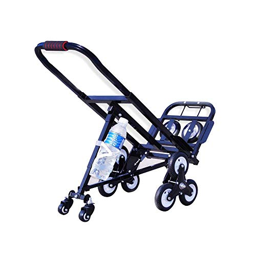 INTBUYING Carbon Steel Folding Portable Stair Climbing...
