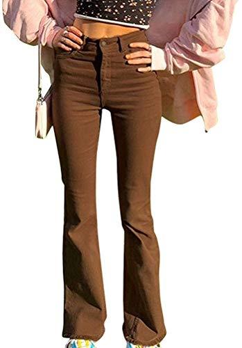 Onsoyours Pantaloni Caldi da Donna per Pantaloni Invernali in Velluto A Coste Pantaloni Caldi E Comodi in Velluto Spesso Pantaloni Casual Z Marrone M