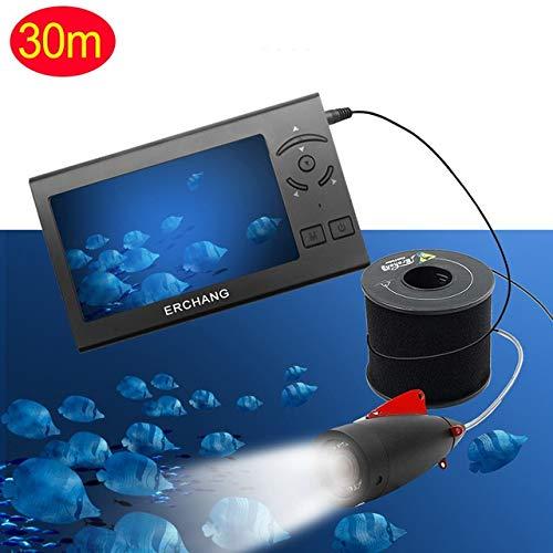 XIWAN 1000TVL 4,3-Zoll-15M Kabel Fischfinder 8pcs weiße LED-Unterwasser Einstellbare Light Vision Fischen Kamera-LCD-Monitor Echolot (Size : 30m)