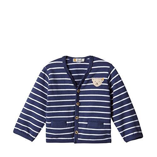 Steiff Baby - Jungen Jacke , Blau (PATRIOT BLUE 6033) , 80 (Herstellergröße:80)