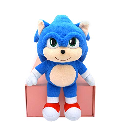 qinhuang Sonic The Hedgehog Plush Toy Doll 35Cm Simpatico Personaggio dei Cartoni Animati Morbido Peluche Ripiene Bambola Regalo di Festa per Bambini