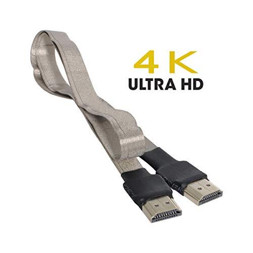 Cablecc CYFPV HDMI-Stecker auf HDMI-Stecker Abschirmkabel 4K 60 Hz HDTV FPC Flat für FPV HDTV Multikopter-Luftaufnahmen 50 cm
