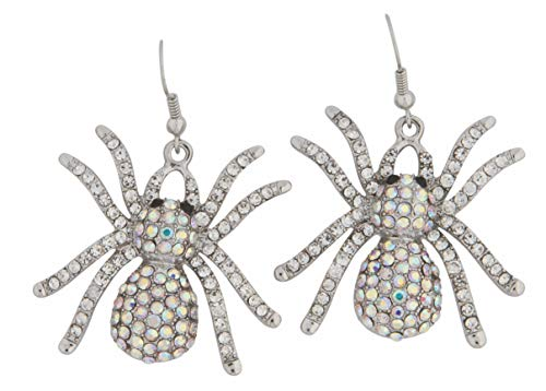 Rubie's - Party Supplies - Wicked Gems Silver Spider Earrings womens One Size