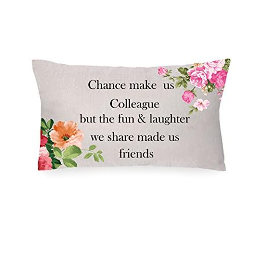 ASODWST Funda de cojín de jubilación, regalo para mujeres, regalo para colegas, mejor amigas, funda de almohada cuadrada con cremallera invisible para decoración de la cama del hogar, 45 x 45 cm