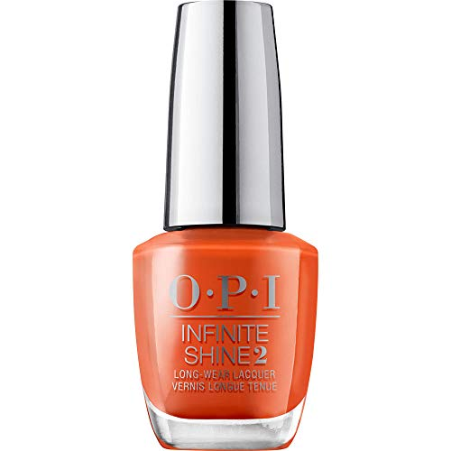 OPI Infinite Shine 2 Long-Wear Lacquer, Suzi Needs a Loch-smith, Orange Long-Lasting Nail Polish, Scotland Collection, 0.5 fl oz