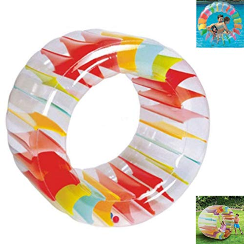Opblaasbaar Kid-ster Wheel Pool-speelgoed Ligbed Veel Plezier Voor Zwembad, Gigantisch Opblaasbaar Landwiel, Jumbo-feestwiel, Kinderen Die Spelen Binnenzwembad Buiten of Meer 49.2 in X 33 in (wiel)