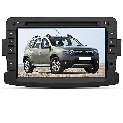 AWESAFE Autoradio Bluetooth 2 Din pour Renault Captur Symbol et Dacia Sandero Lodgy Logan Duster Dokker,Lecture DVD CD 7  Écran Tactile avec GPS Navigation Aide au Park Mirrorlink Commande au Volant