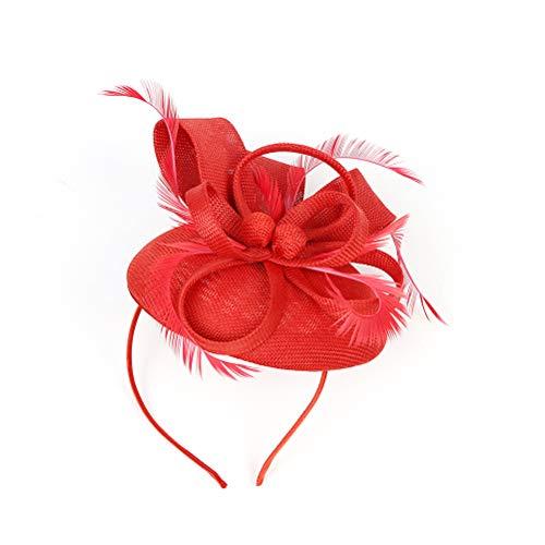Lurrose Tocados con diadema de flores para fiesta de té sombreros vintage...