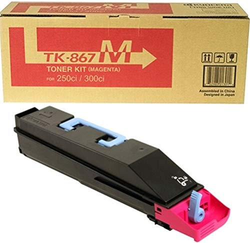 Kyocera 1T02JZBUS0 Model TK-867M Magenta Toner Cartridge For use with Kyocera TASKalfa 250ci and 300ci Color Multifunction Laser Printers, Up to 12000 Pages Yield at 5% Average Coverage