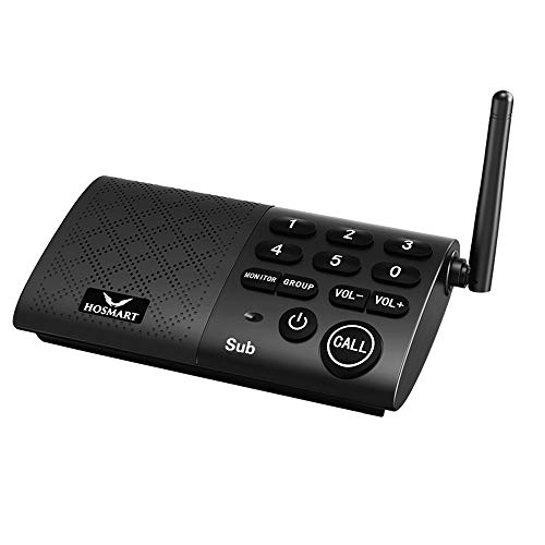 Supplemental Hosmart Full Duplex Wireless Intercom System,Real Time, Two -Way Communication for Home and Office£¬with Crystal Clear Sound,(1 Sub only)