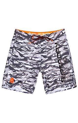 Superdry Herren Deep Water Boardshort Shorts, Mehrfarbig (Ice Grey Camo Q2M), Gr. 34 (Herstellergröße:L)