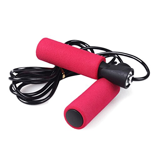 GPURE Adjustable Skipping Rope Weighted Jump Rope With Memory Foam Handles Tangle-Free Rapid Speed Jumping Rope For Adult Kids Women Men Boy Girl Indoor Outdoor Fitness Workouts Cardio