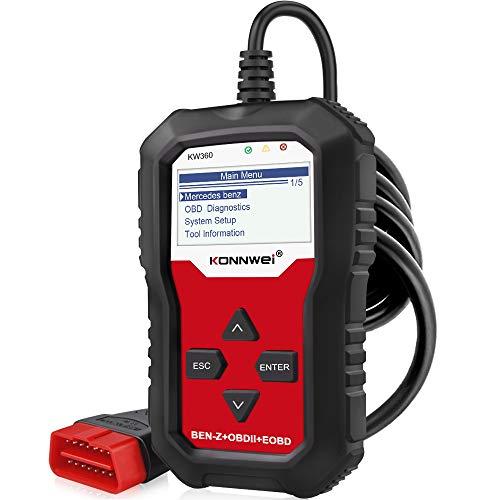 KONNWEI KW360 OBD2 Diagnosegerät Alle Systeme KFZ Auslesegerät Fehler Motorkontrollleuchte...