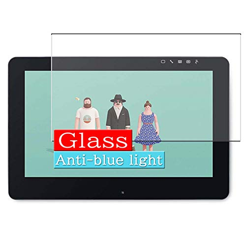 "VacFun Filtro Luz Azul Vidrio Templado Protector de Pantalla para Wacom 15.6"" Tablet Cintiq Pro 16 DTH-1620 / K0 Visible Area, 9H Cristal Screen Protector Anti Blue Light Filter(cobertura no completa)"