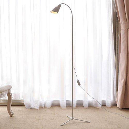 ZIXUANJIAXL Stehende Stehlampen Dimming Farbe Einfache Moderne LED Stehlampe Vertikal Tischlampe Augenschutz Raum Nacht Schlafzimmer Arbeitszimmer Leuchte Stehleuchte (Color : White)