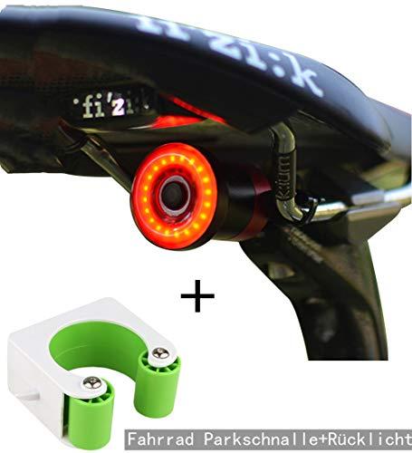 Heerda Fahrrad Rücklicht Fahrrad Parkschnalle Set Smart USB Fahrradbeleuchtung Aufladen Automatische Bremserkennung LED Fahrrad-Rücklicht IPX6 wasserdichte Nachtwarnfahrt Fahrradrücklicht