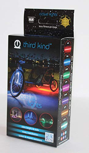 Third Kind Stroller Lights Safe Fun Rechargeable Ultra Bright LEDs Endorsed by Police for Safety