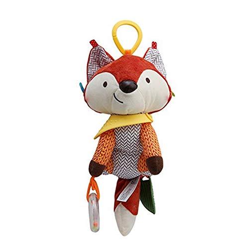 Newin Star Kinderwagen Apielzeug Plüschtier hängendes Spielzeug Cartoon Tier Spielzeug Greiflinge für Baby, Fuchs