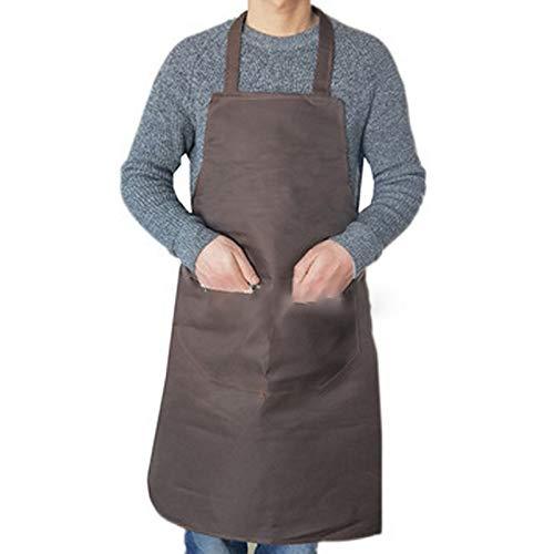 Masterchef Delantal de cocina colorida en la cocina Mantenga la ropa limpia sin mangas y conveniente delantal universal del chef (Color : Coffee)