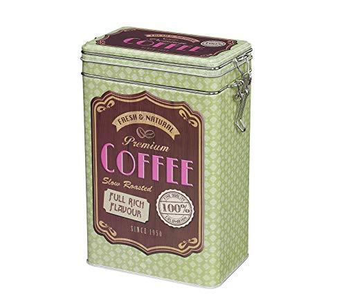 Zassenhaus M067217 Boîte à café avec joint hermétique en silicone Vert Acier