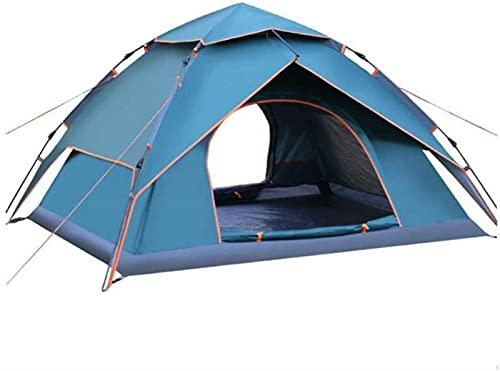 WXHHH Carpas para Acampar, Carpa emergente para la Playa |Tienda de campaña Tipo Domo versátil Impermeable para 3-4 Personas |Adecuado para Viajes al Aire Libre y de Senderismo, (Color: Azul)