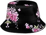 KEROTA Sombrero de pescador con estampado de flores para exteriores, protección solar para pescadores, para viajes y pesca. Unisex.