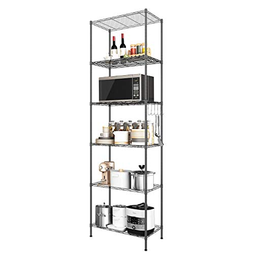 jepreco 4-Tier Stainless Steel Utility Shelving Unit with Wheels 23.6