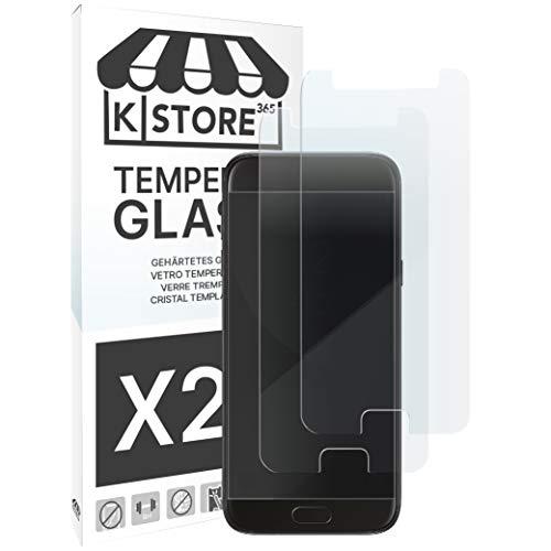 KSTORE365 [2 Piezas] Cristal Templado para Samsung J7 2017 Protector De Pantalla Vidrio Templado con [Adhesivo En Todo El Cristal] [9H Dureza] [2.5D Borde Redondeado] para Samsung Galaxy J7 2017