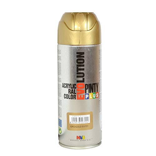 PINTYPLUS EVOLUTION 279 Pintura Spray Acrílica Brillo 520cc Gold P151, Oro, 0.6