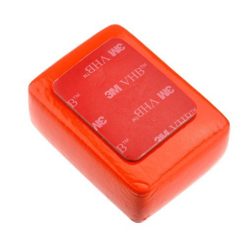 Goliton Floaty Float Box Sponge with 3M Adhesive Anti Sink Compatible for GoPro HD Hero 1 / Hero 2 / Hero 3 / Hero 3+/Hero4 /Hero5 /4 Session/5 Session XiaoYI Xiaomi- Red